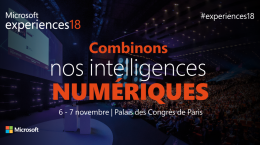 Save the date : Microsoft Experiences 18 !